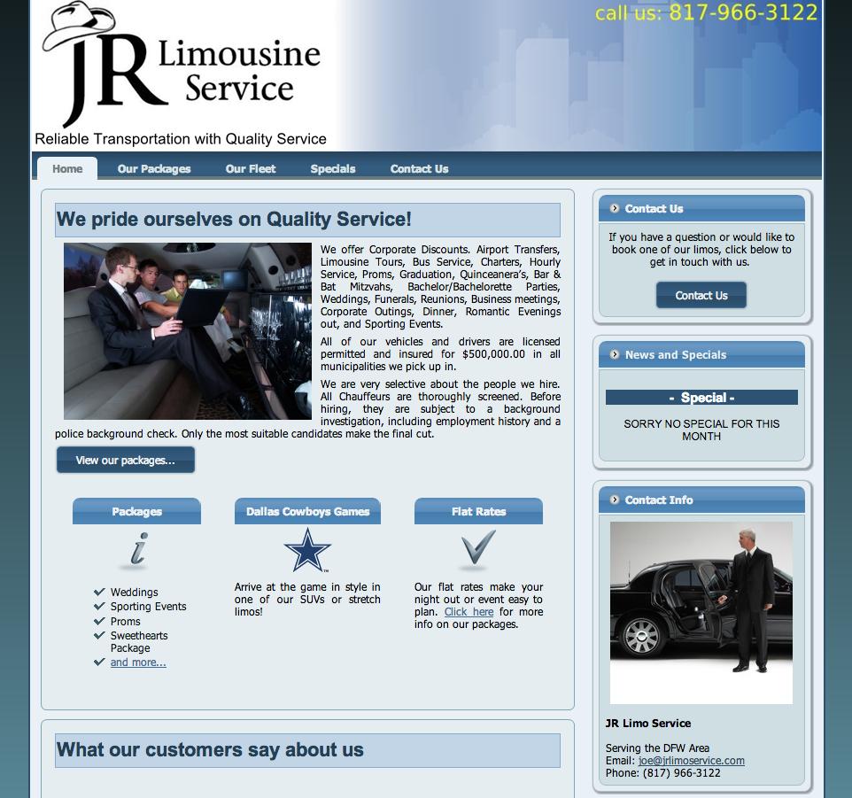 JR Limousine Service   -   www.jrlimoservice.com